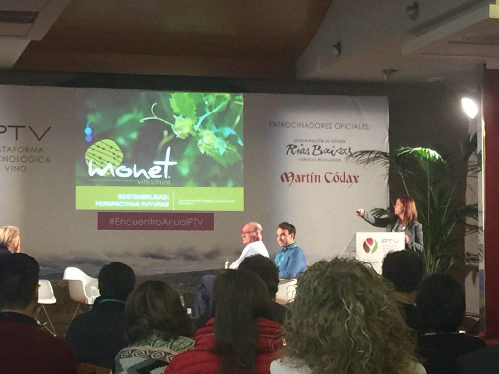 Ponencia de Monet en la Jornada sostenibilidad en viñedo. Encuentro anual PTV